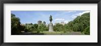 Statue in a garden, Boston Public Gardens, Boston, Massachusetts, USA Fine Art Print