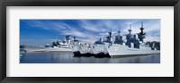 Warships at a naval base, Philadelphia, Philadelphia County, Pennsylvania, USA Fine Art Print