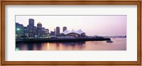 Skyscrapers at the waterfront, Charles river, Boston, Massachusetts, USA Fine Art Print