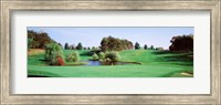 Pond at a golf course, Baltimore Country Club, Baltimore, Maryland, USA Fine Art Print