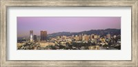 High angle view of a cityscape, Hollywood Hills, City of Los Angeles, California, USA Fine Art Print