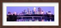 Minneapolis in Purple Fine Art Print
