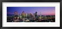 Night, Dallas, Texas, USA Fine Art Print