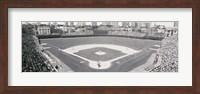 Wrigley Field in black and white, USA, Illinois, Chicago Fine Art Print