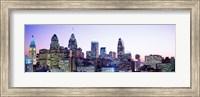 Philadelphia Lit Up At dusk Fine Art Print