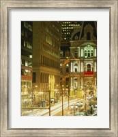 Building lit up at night, City Hall, Philadelphia, Pennsylvania, USA Fine Art Print
