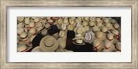 High Angle View Of Hats In A Market Stall, San Francisco El Alto, Guatemala Fine Art Print