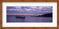 Ferry in the sea, Bainbridge Island, Seattle, Washington State Fine Art Print