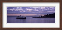 Ferry in the sea, Bainbridge Island, Seattle, Washington State Fine Art Print