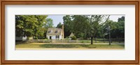 Fence in front of a house, Colonial Williamsburg, Williamsburg, Virginia, USA Fine Art Print