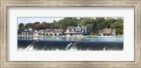Boathouse Row at the waterfront, Schuylkill River, Philadelphia, Pennsylvania Fine Art Print