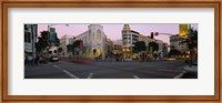 Buildings in a city, Rodeo Drive, Beverly Hills, California, USA Fine Art Print