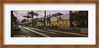 Stores on the roadside, Rodeo Drive, Beverly Hills, California, USA Fine Art Print