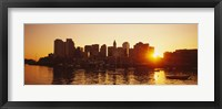 Sunset over skyscrapers, Boston, Massachusetts, USA Fine Art Print