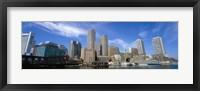 Skyscrapers at the waterfront, Boston, Massachusetts Fine Art Print