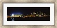 Stadium lit up at night in a city, Heinz Field, Three Rivers Stadium,Pittsburgh, Pennsylvania, USA Fine Art Print