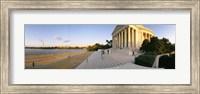 Monument at the riverside, Jefferson Memorial, Potomac River, Washington DC, USA Fine Art Print