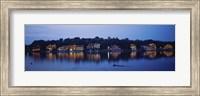 Boathouse Row lit up at dusk, Philadelphia, Pennsylvania Fine Art Print