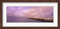 Yachts moored at a harbor, San Francisco Bay, San Francisco, California, USA Fine Art Print