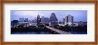 Bridge across a lake, Town Lake, Colorado River, Austin, Texas, USA Fine Art Print