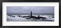 Lighthouse on the coast, Graves Light, Boston Harbor, Massachusetts, USA Fine Art Print