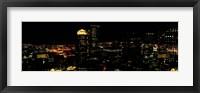 High angle view of a city at night, Boston, Suffolk County, Massachusetts, USA Fine Art Print