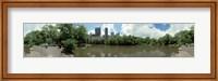 360 degree view of a pond in an urban park, Central Park, Manhattan, New York City, New York State, USA Fine Art Print