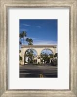 Entrance gate to a studio, Paramount Studios, Melrose Avenue, Hollywood, Los Angeles, California, USA Fine Art Print