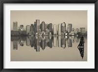 Reflection of buildings in water, Boston, Massachusetts, USA Fine Art Print