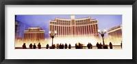 Bellagio Resort And Casino Lit Up At Night, Las Vegas Fine Art Print