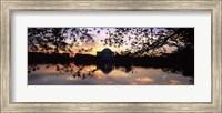Memorial at the waterfront, Jefferson Memorial, Tidal Basin, Potomac River, Washington DC Fine Art Print