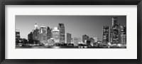 City at the waterfront, Lake Erie, Detroit, Wayne County, Michigan, USA Fine Art Print