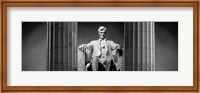 Statue of Abraham Lincoln in a memorial, Lincoln Memorial, Washington DC Fine Art Print