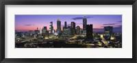 Atlanta skyline at night, Georgia, USA Fine Art Print