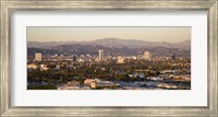 Buildings in a city, Miracle Mile, Hayden Tract, Hollywood, Griffith Park Observatory, Los Angeles, California, USA Fine Art Print