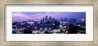 Union Station at sunset with city skyline in background, Kansas City, Missouri Fine Art Print