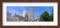Low angle view of downtown buildings, Tulsa, Oklahoma Fine Art Print