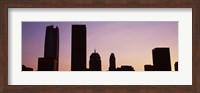 Downtown skyline at dusk, Oklahoma City, Oklahoma, USA Fine Art Print