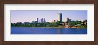 Buildings at the waterfront, Arkansas River, Tulsa, Oklahoma Fine Art Print