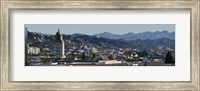High angle view of Beverly Hills, West Hollywood, Hollywood Hills, California Fine Art Print