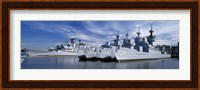 Warships at a naval base, Philadelphia, Philadelphia County, Pennsylvania, USA Fine Art Print