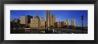 Skyscrapers in a city, Boston, Massachusetts, USA Fine Art Print
