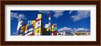 Building With Geometric Decorations, Minneapolis, Minnesota, USA Fine Art Print