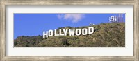 Low angle view of a Hollywood sign on a hill, City Of Los Angeles, California, USA Fine Art Print