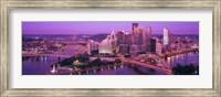 Dusk, Pittsburgh, Pennsylvania, USA Fine Art Print