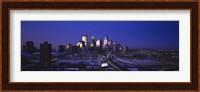 Skyscrapers at dusk, Minneapolis, Minnesota, USA Fine Art Print