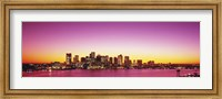 Sunset, Boston, Massachusetts, USA Fine Art Print