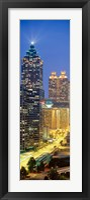 Skyscrapers lit up at night, Atlanta, Georgia, USA Fine Art Print