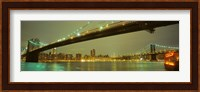 USA, New York, Brooklyn and Manhattan Bridges Fine Art Print