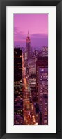 High angle view of a city, Fifth Avenue, Midtown Manhattan, New York City, New York State, USA Fine Art Print